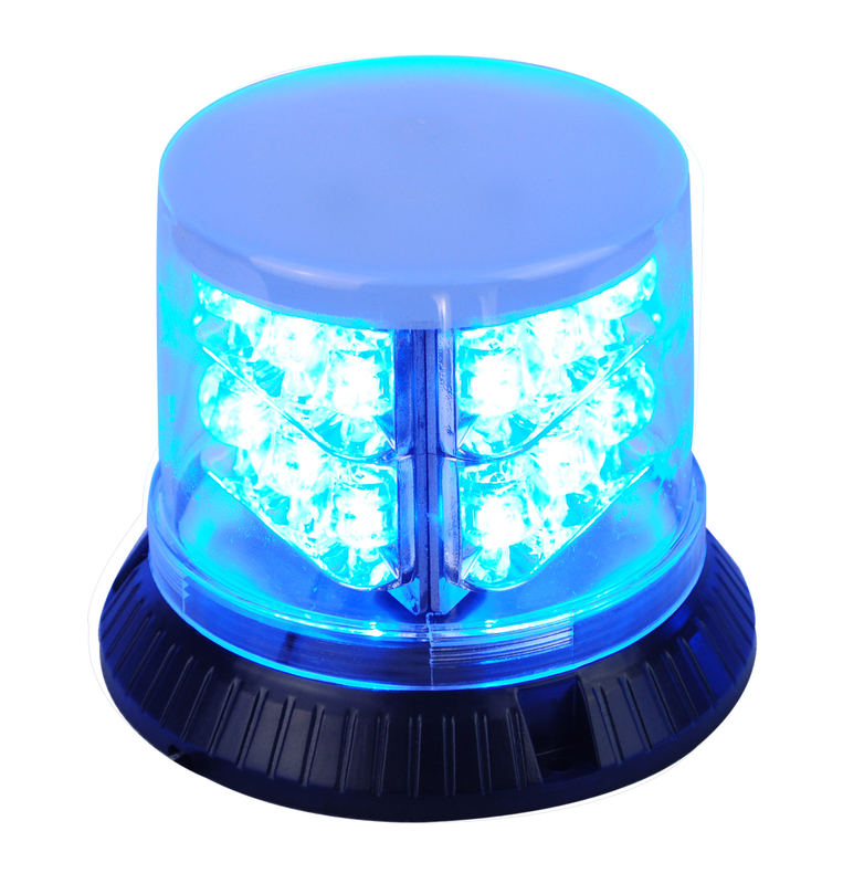 Powerful Blue Police Beacon Light , PC Shell LED Warning Beacons For Vehicles